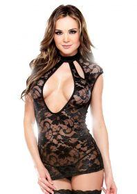 Lace Dress & G-String Black Os