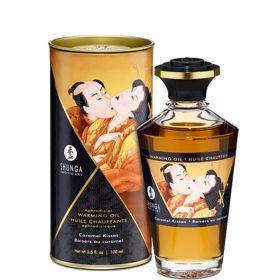 Shunga - Aphrodisiac Warming Oil Caramel Kisses 100 ml