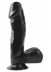 6.5 Inch Dong With Suction Cup - Black