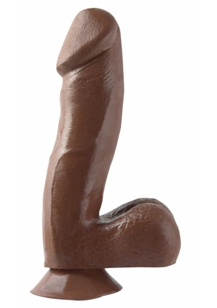 6.5 Inch Dong with Suction Cup - Brown