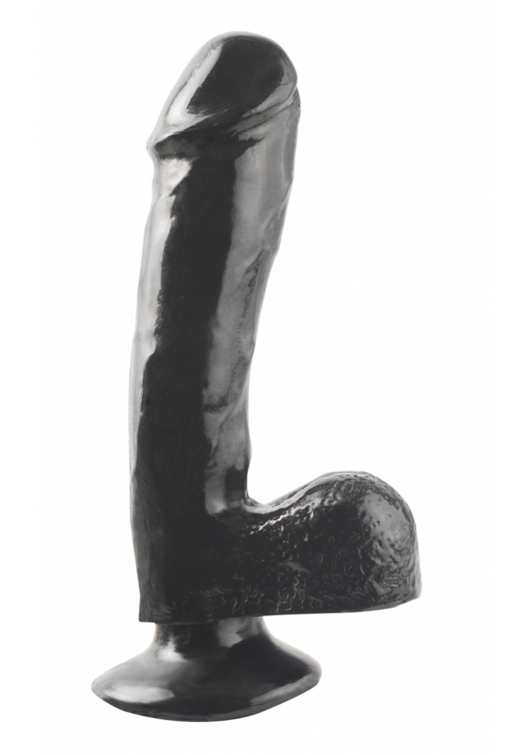 7.5 Inch Dong With Suction Cup - Black