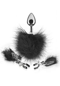Feather Nipple Clamps and Anal Plug