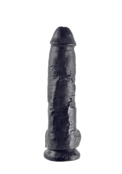 10 Inch Cock - With Balls - Black