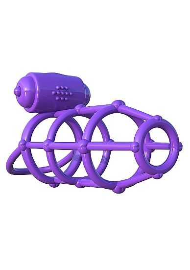 Vibrating Climax Cage - Purple
