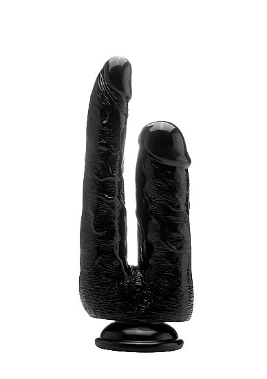 Realistic Double Cock - 9 Inch - Black