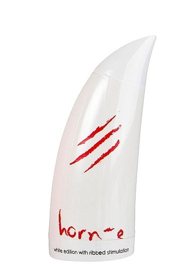 Horn-e White Edition Ribbed Stimulation