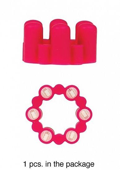 Sixshot Vibrating Ring - Pink